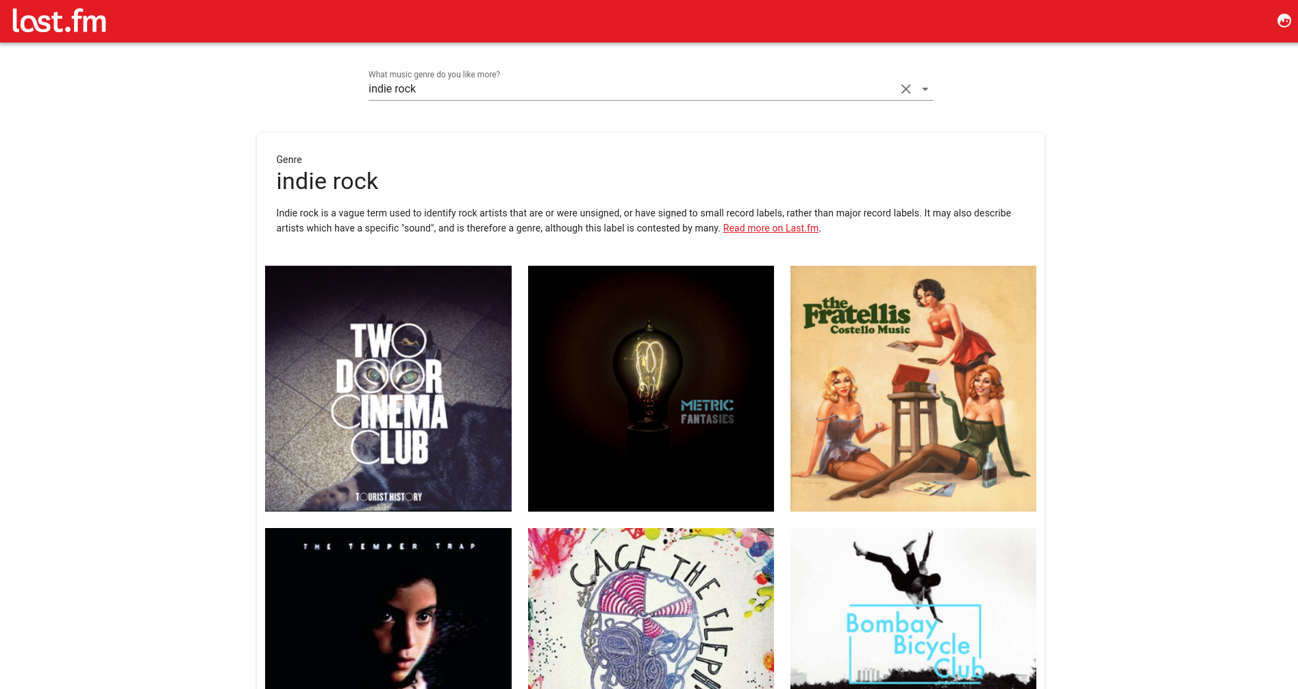 Vue & Last.fm- Featured Shot